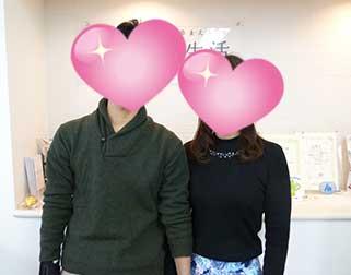 ご成婚カップル/男性30代(船橋市)・女性20代(東京都)/交際期間5ヵ月