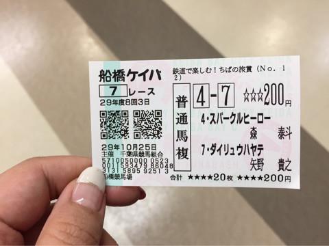 船橋競馬場にて☆婚活イベントの下見